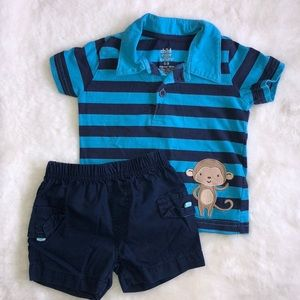Carter's matching shorts and tshirt 6-9 months